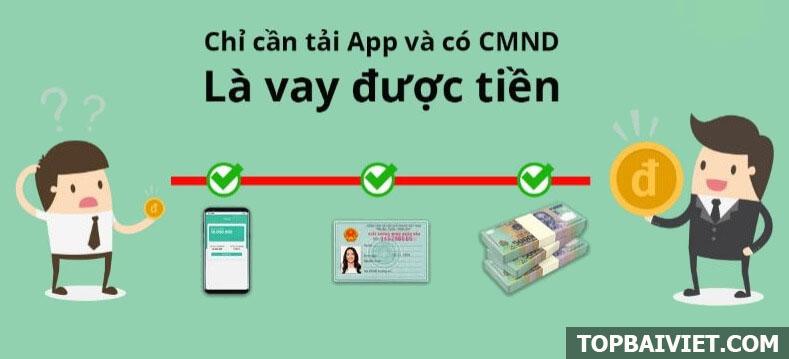 app vay tiền online chỉ cần CMND