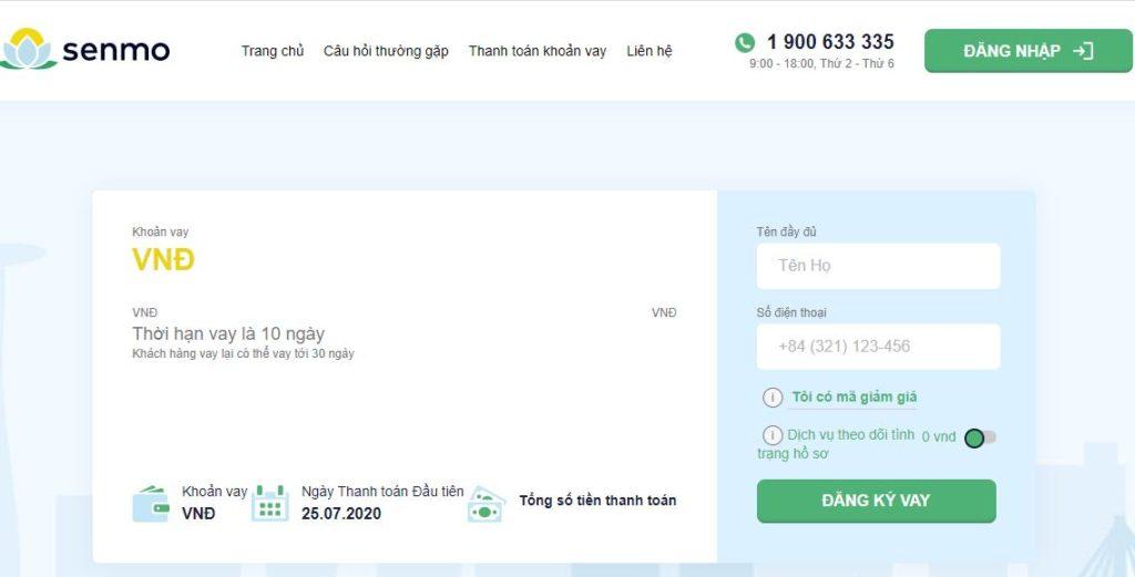Vay tiền siêu tốc Online tại Senmo