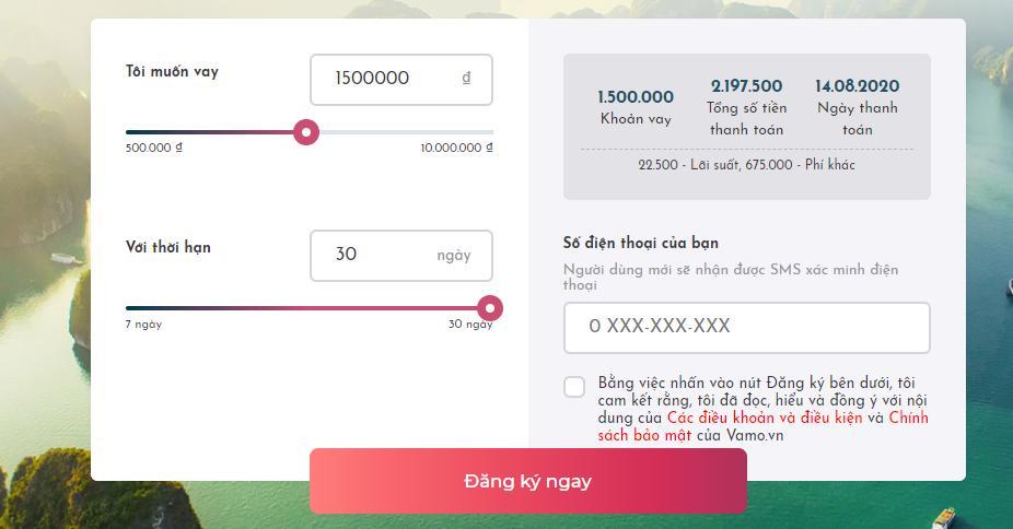 Vay tiền online nhanh trong 15 phút tại Vamo