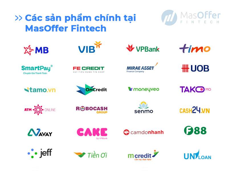 Các sản phẩm chính tại MasOffer Fintech