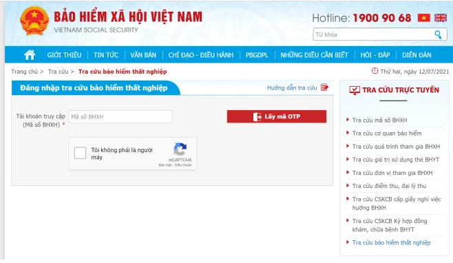 Tra cứu online tại Cổng thông tin điện tử của Bảo hiểm xã hội Việt Nam