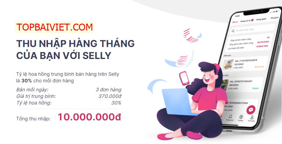 web kiếm tiền mùa dịch Selly